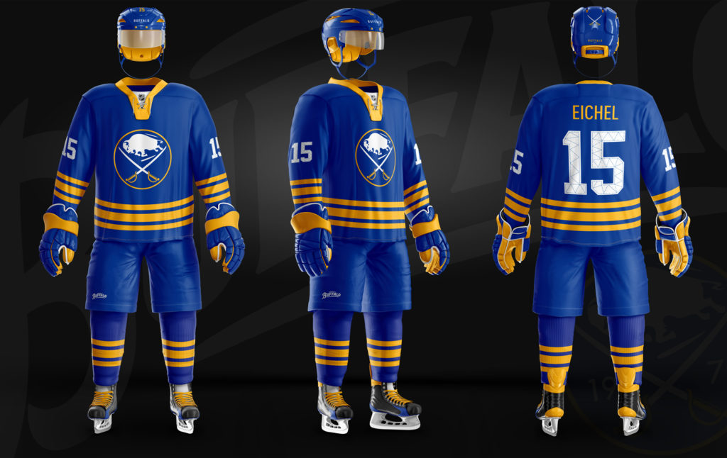 brand new 4a189 ef686 buffalo sabres blue and gold