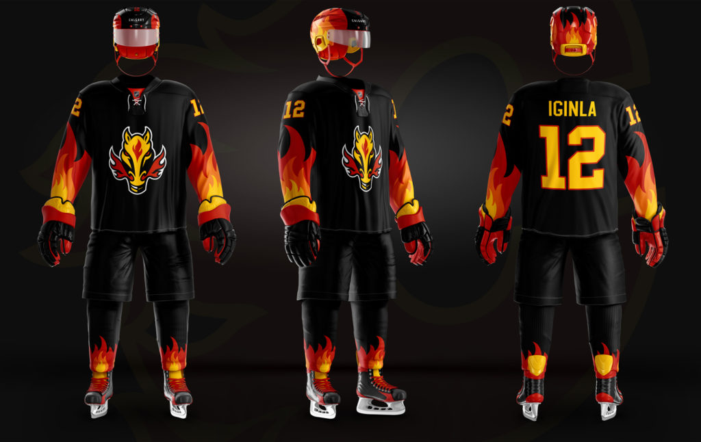Calgary Flames Old New Christopher Hyzy